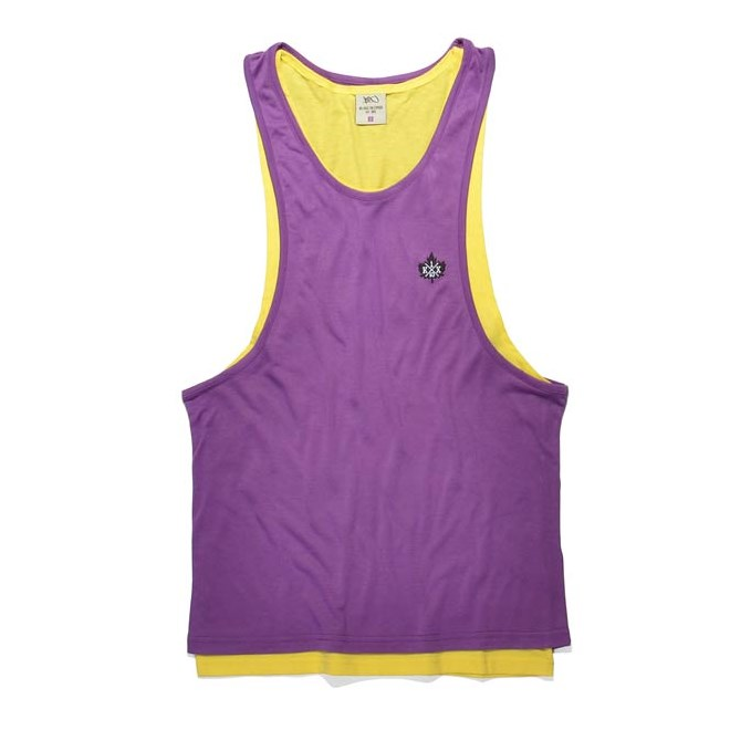 tílko K1X - Authentic Double Layer Yellow/Purple (2408)