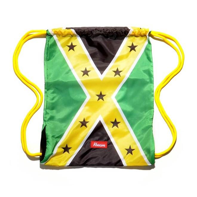 gymsack KREAM - Kream Jamaican Redneck Bag Green/Yellow/Black (3206)
