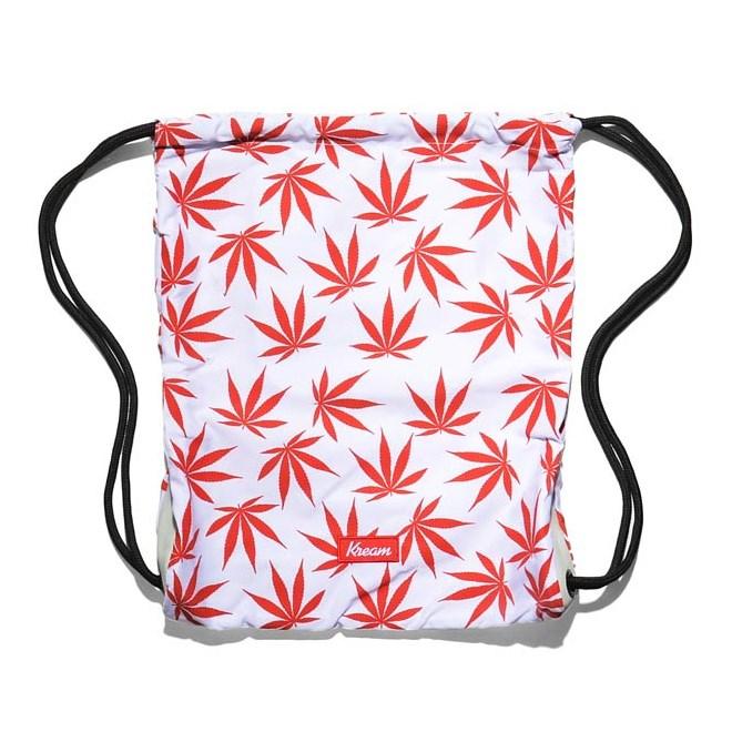 gymsack KREAM - Kream Need For Weed Ii Bag White/Red (1600)
