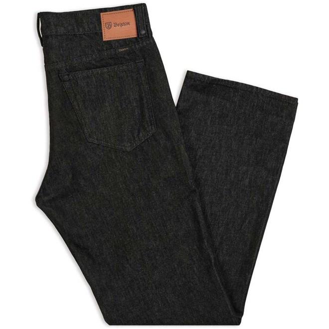 kalhoty BRIXTON - Labor 5-Pkt Denim Pant Black (BLACK)