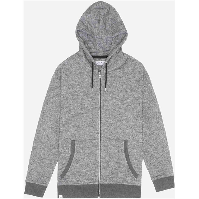 mikina REELL - Zip Hoody Light Grey Melange Light Grey Melange (Light Grey Melange)