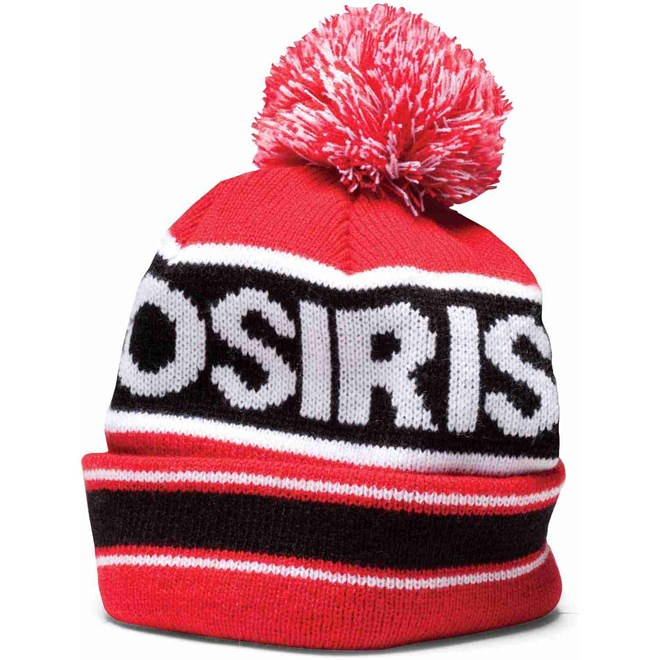 kulich OSIRIS - Pom Pom Beanie Red/Blk (A132)