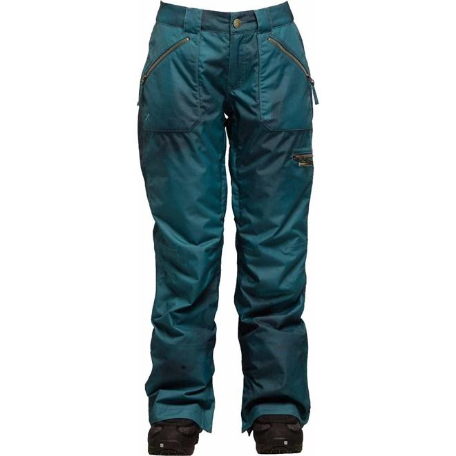 kalhoty BONFIRE - PearlPantOilFadePrint Emerald (EME)