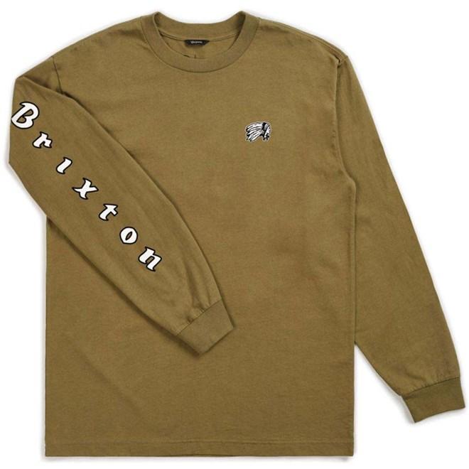 triko BRIXTON - Primo L/S Stt Dusty Olive (DYOLI)
