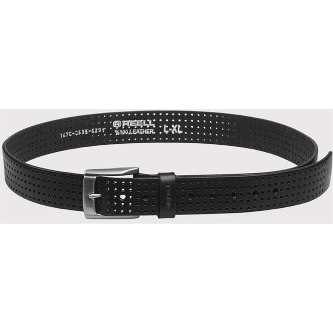pásek REELL - Punched Belt Black Black (Black )