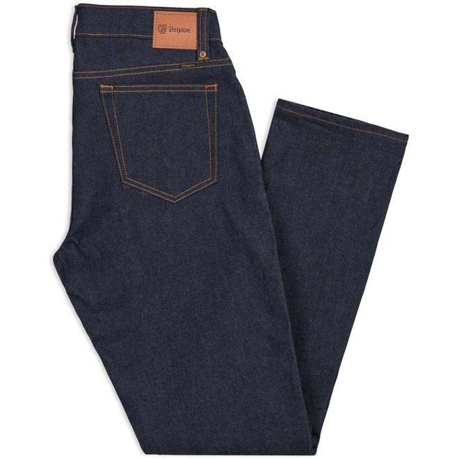 kalhoty BRIXTON - Reserve 5-Pkt Denim Pant Raw Indigo (RWIDG)
