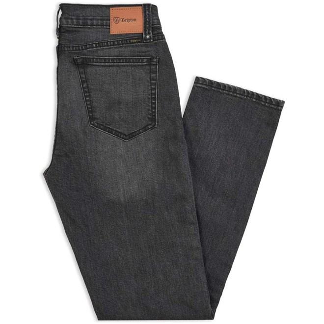 kalhoty BRIXTON - Reserve 5-Pkt Denim Pant Worn Indigo (WNIDG)