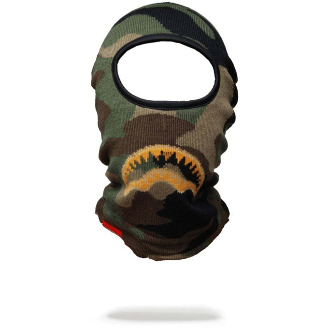 kukla SPRAYGROUND - Gold Knit Shark Mouth Ski Mask (000)