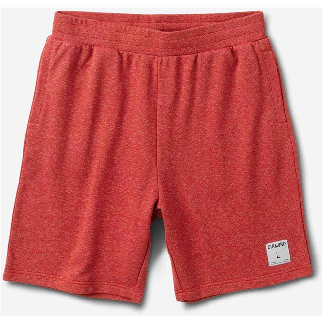 kraťasy DIAMOND - Speckle Jersey Short Red (RED)