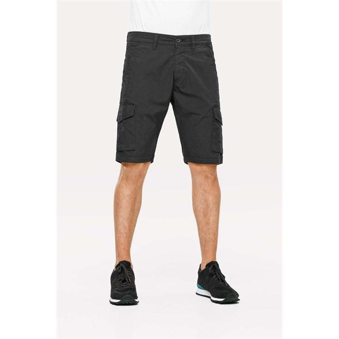 kalhoty REELL - Slim Cargo Pant Black (BLACK)