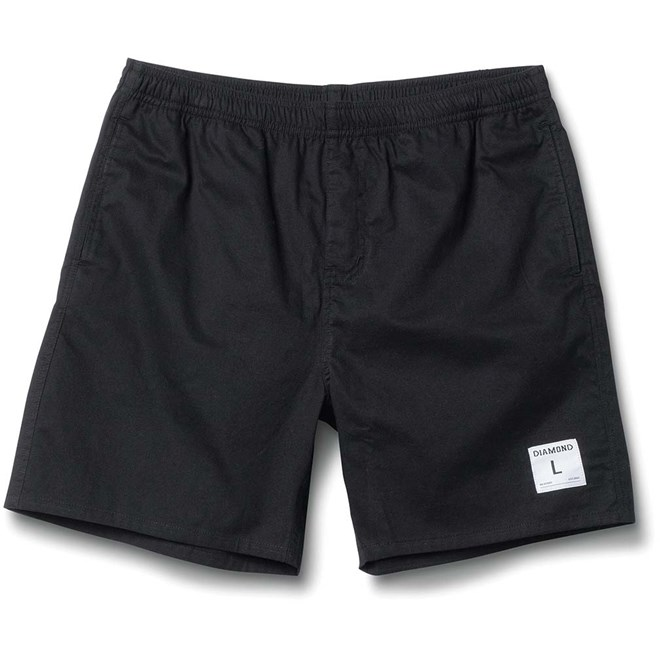kraťasy DIAMOND - Dugout Shorts Black (BLACK)