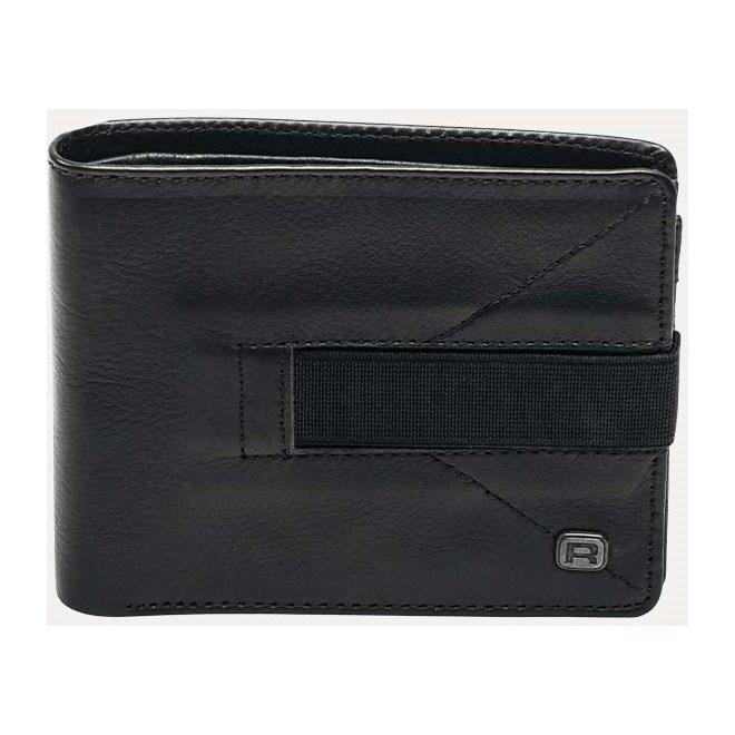 5b4f76ccd1b26 portfel REELL - Strap Leather Black Black (Black )