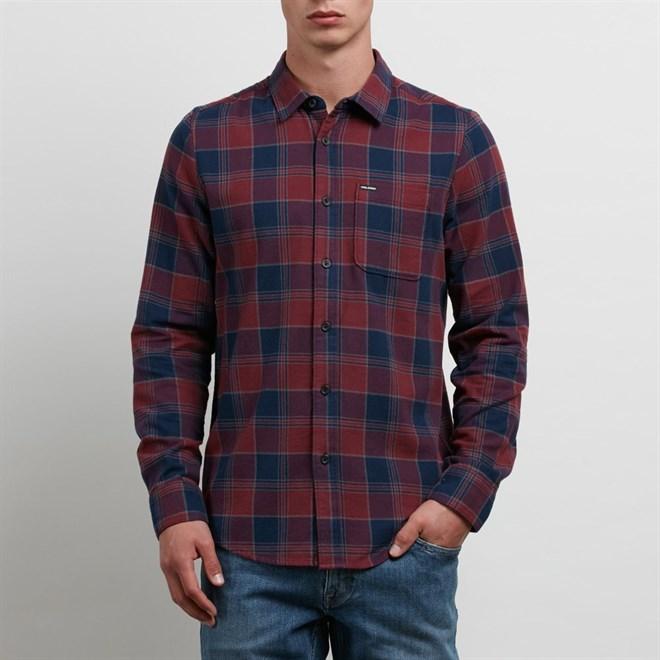 košile VOLCOM - Caden L/S Crimson (CMS)