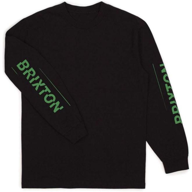 triko BRIXTON - Twin L/S Stt Black (BLACK)