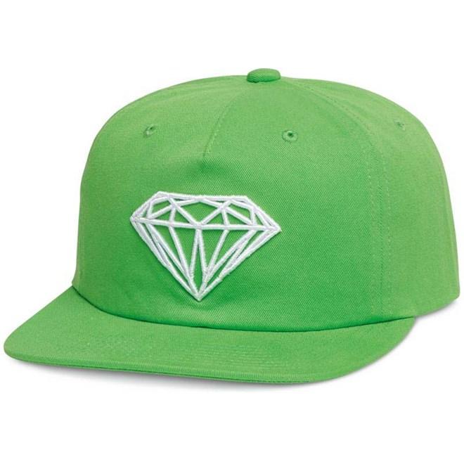 kšiltovka DIAMOND - Brilliant Unstructured Snapbac Green (GRN)
