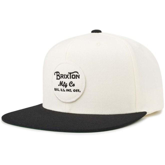 czapka z daszkiem BRIXTON - Wheeler Snapback Black-Off White (BKOFF)